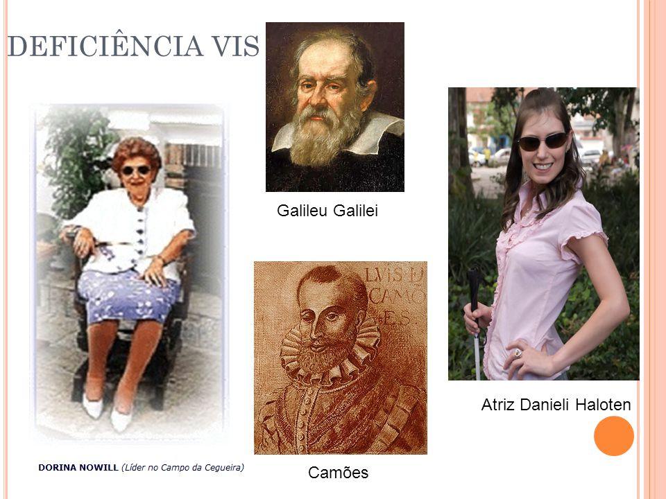 DEFICIÊNCIA VISUAL Galileu Galilei Atriz Danieli Haloten Camões