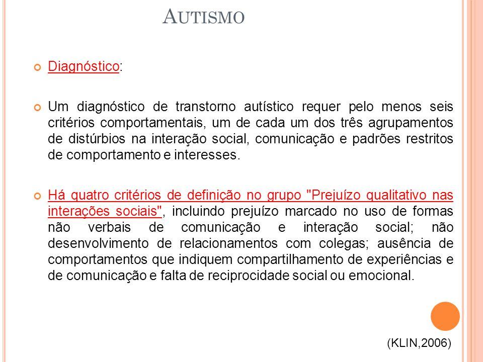Autismo Diagnóstico: