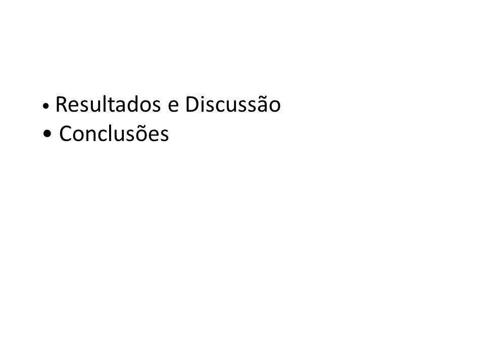 • Resultados e Discussão