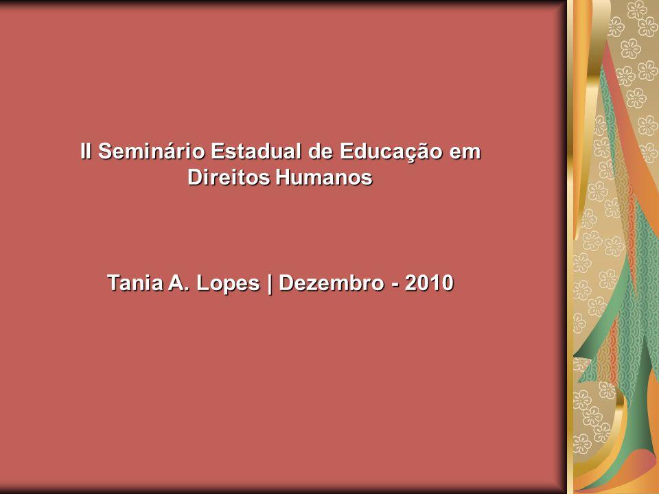 II Seminário Estadual de Educação em Direitos Humanos
