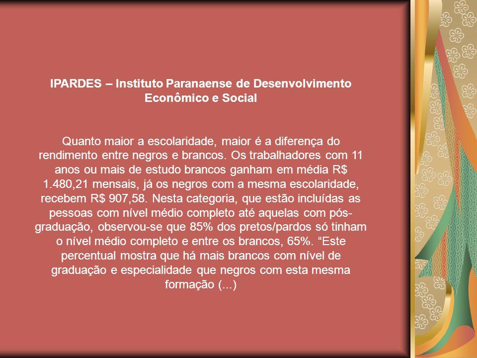 IPARDES – Instituto Paranaense de Desenvolvimento Econômico e Social