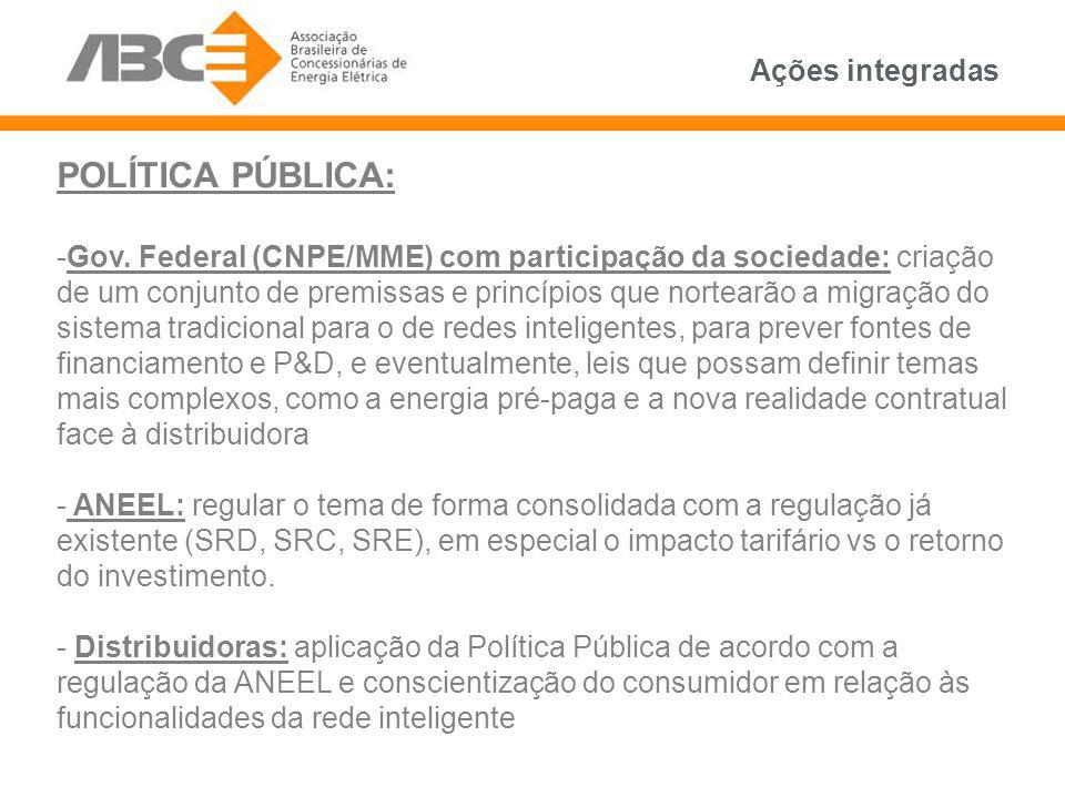 POLÍTICA PÚBLICA: Ações integradas