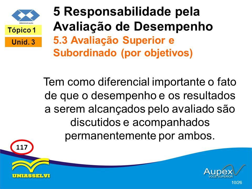 5 Responsabilidade pela Avaliação de Desempenho 5