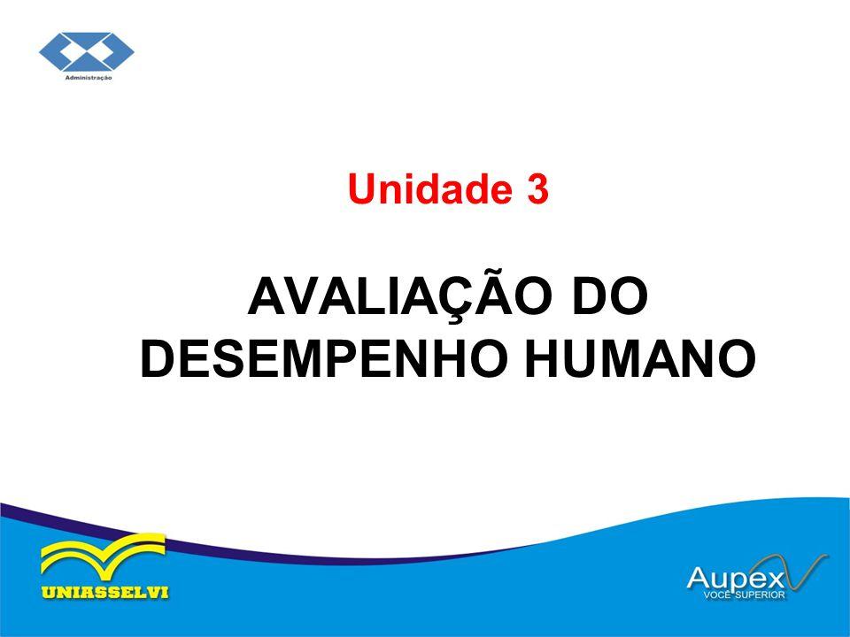Unidade 3 AVALIAÇÃO DO DESEMPENHO HUMANO