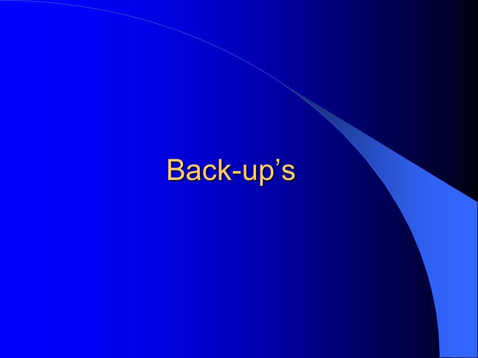 Back-up's