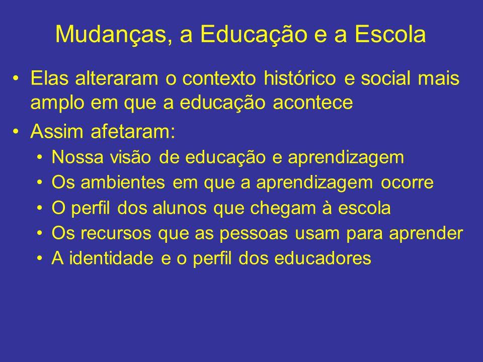 Mudanças, a Educação e a Escola