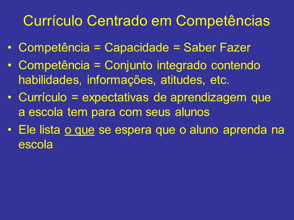 Currículo Centrado em Competências