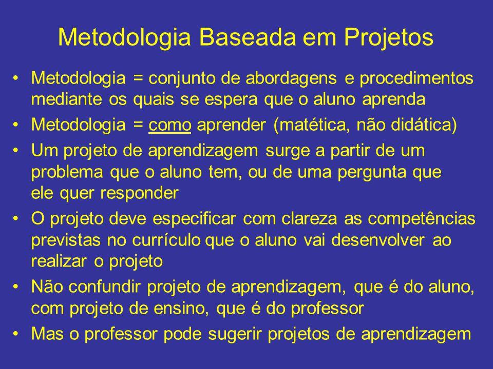 Metodologia Baseada em Projetos