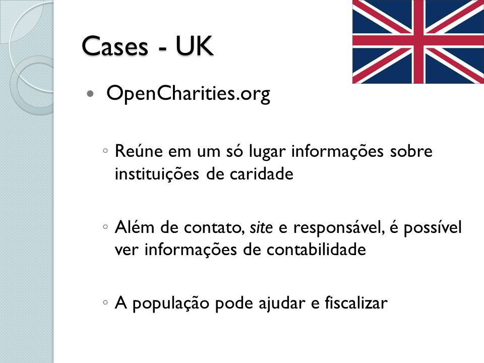 Cases - UK OpenCharities.org