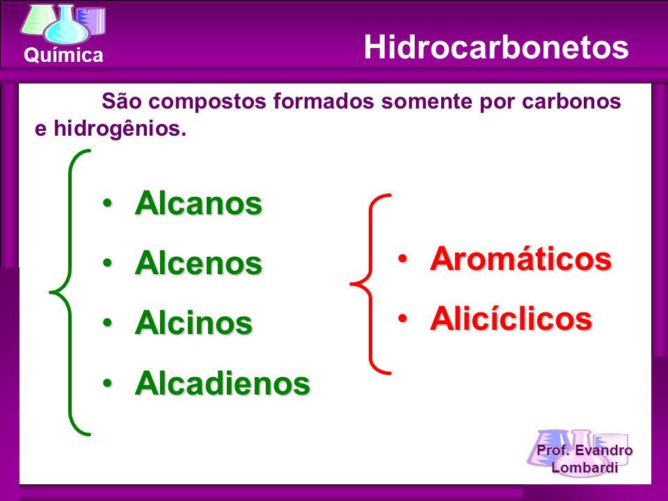 Hidrocarbonetos Alcanos Alcenos Alcinos Aromáticos Alicíclicos