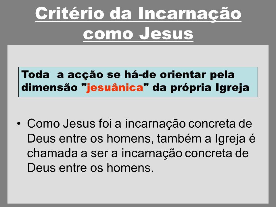 Critério da Incarnação como Jesus