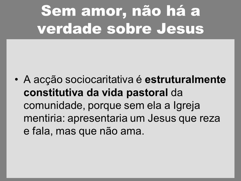 Sem amor, não há a verdade sobre Jesus