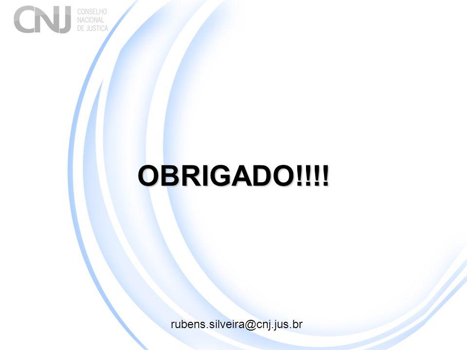 OBRIGADO!!!! rubens.silveira@cnj.jus.br 1
