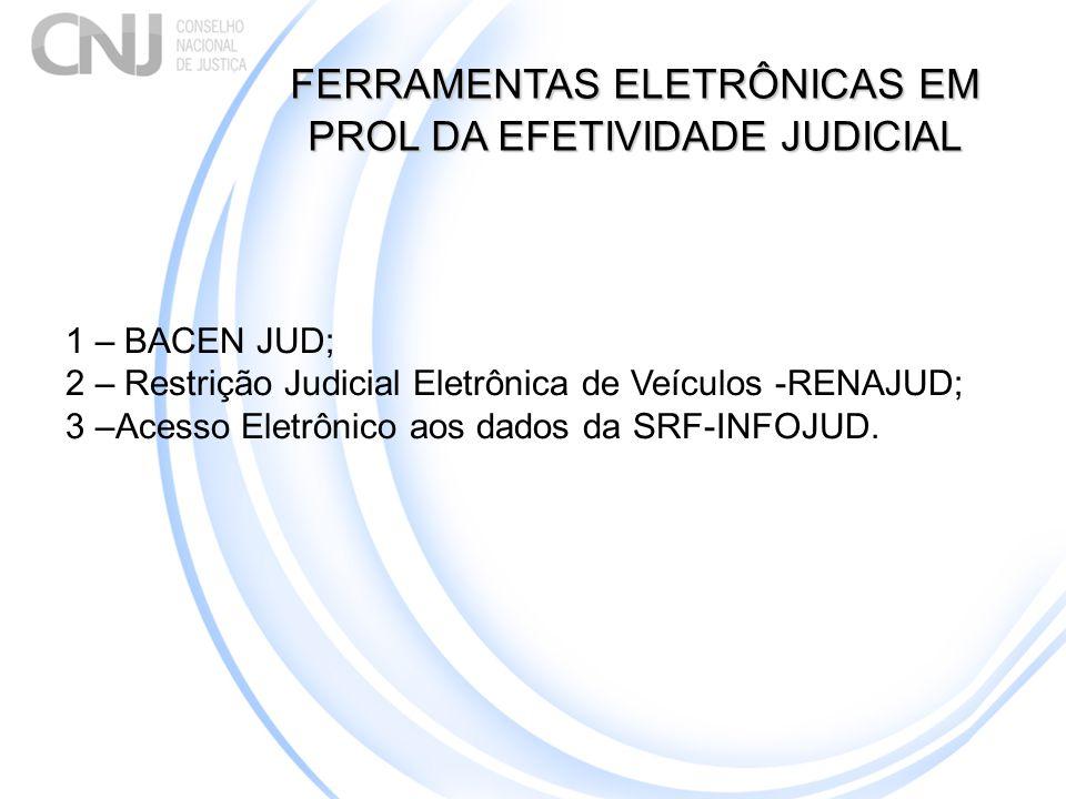FERRAMENTAS ELETRÔNICAS EM PROL DA EFETIVIDADE JUDICIAL