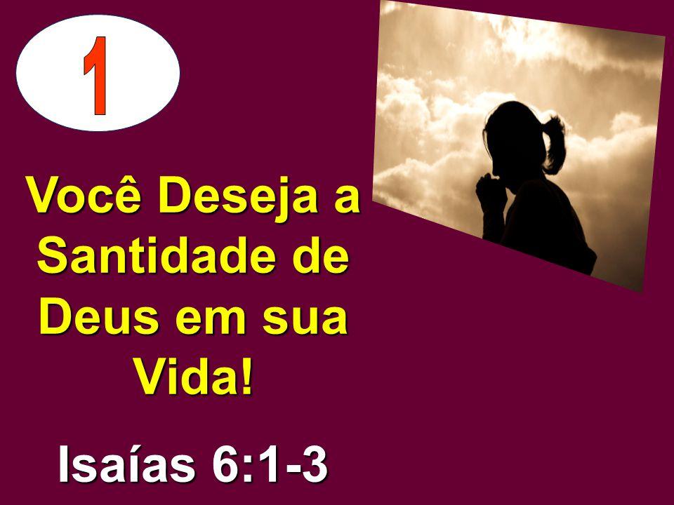 Você Deseja a Santidade de Deus em sua Vida!