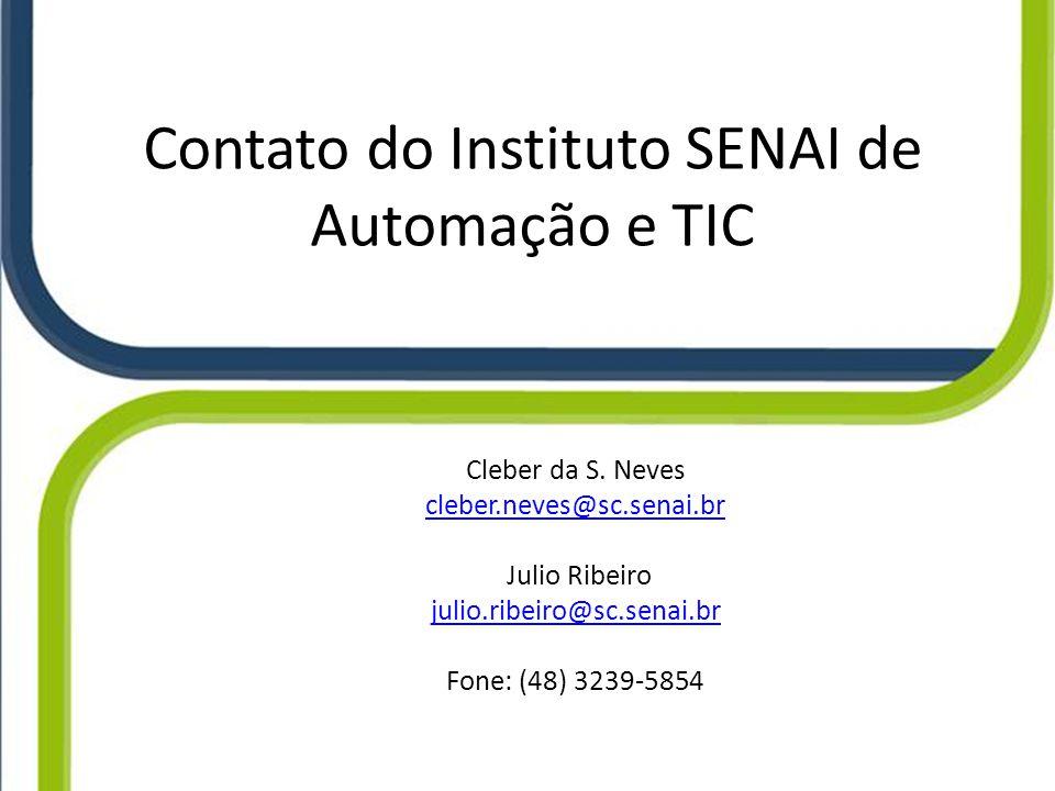 Contato do Instituto SENAI de Automação e TIC