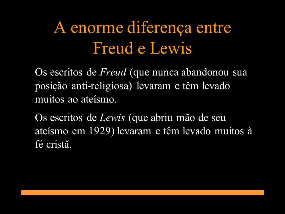 A enorme diferença entre Freud e Lewis