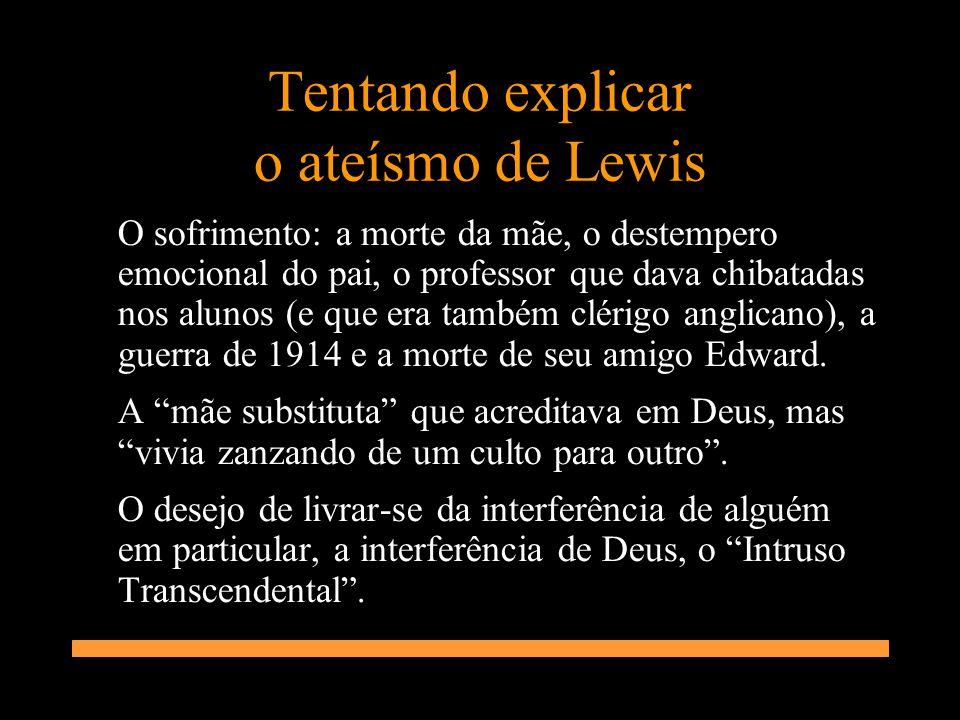 Tentando explicar o ateísmo de Lewis