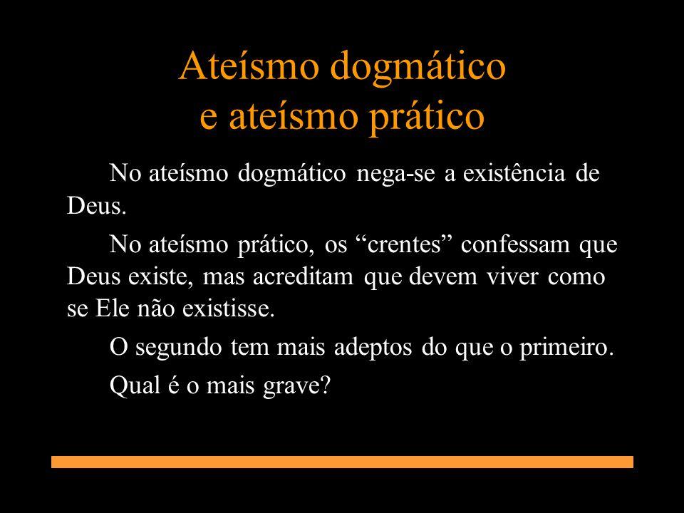 Ateísmo dogmático e ateísmo prático