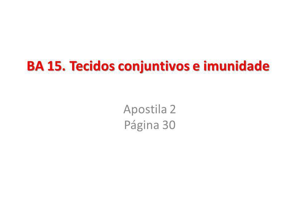 BA 15. Tecidos conjuntivos e imunidade
