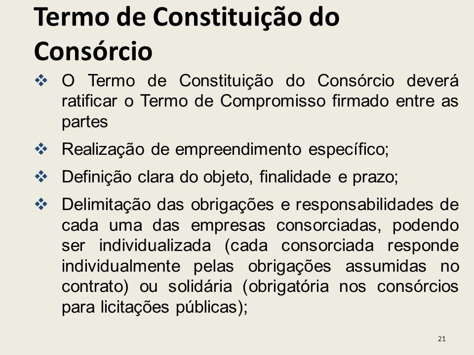 Termo de Constituição do Consórcio
