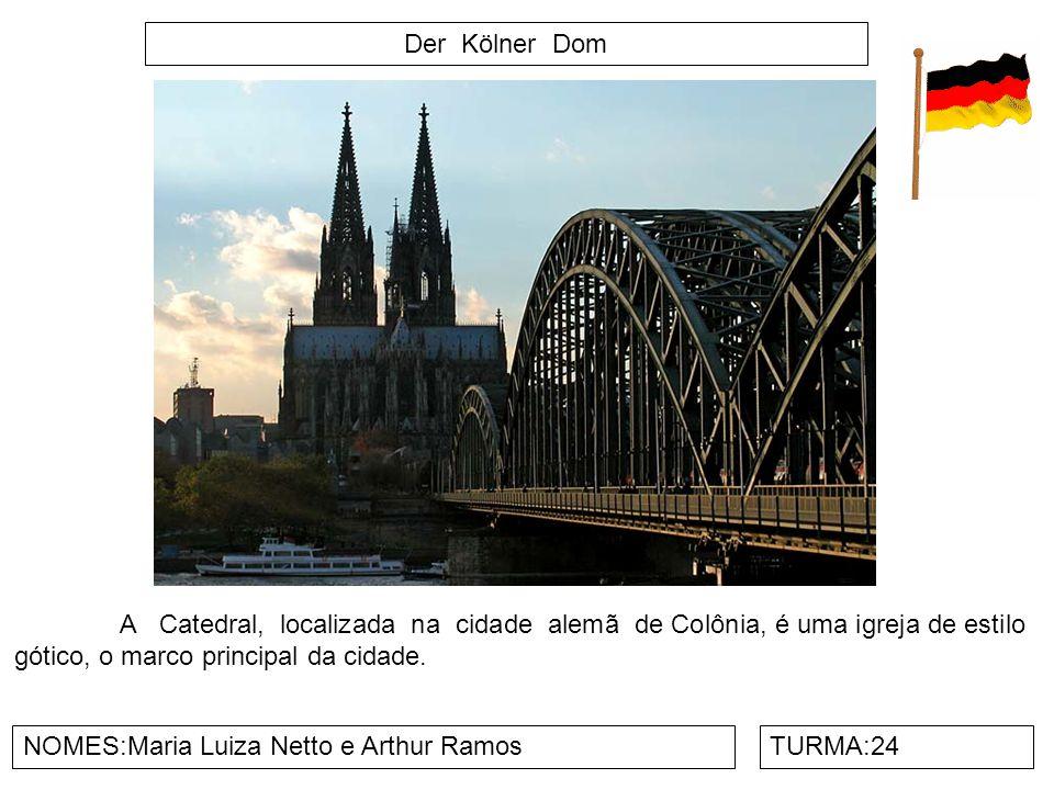 Der Kölner Dom A Catedral, localizada na cidade alemã de Colônia, é uma igreja de estilo gótico, o marco principal da cidade.
