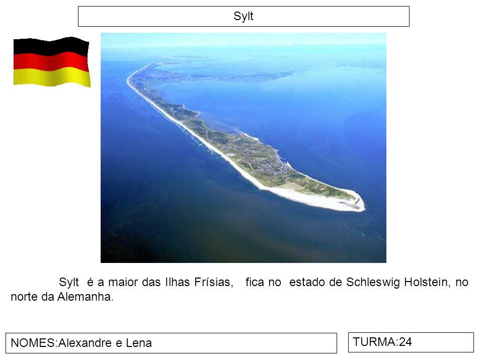 Sylt Sylt é a maior das Ilhas Frísias, fica no estado de Schleswig Holstein, no norte da Alemanha.