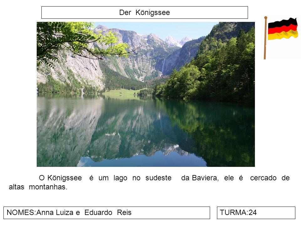 Der Königssee O Königssee é um lago no sudeste da Baviera, ele é cercado de altas montanhas.