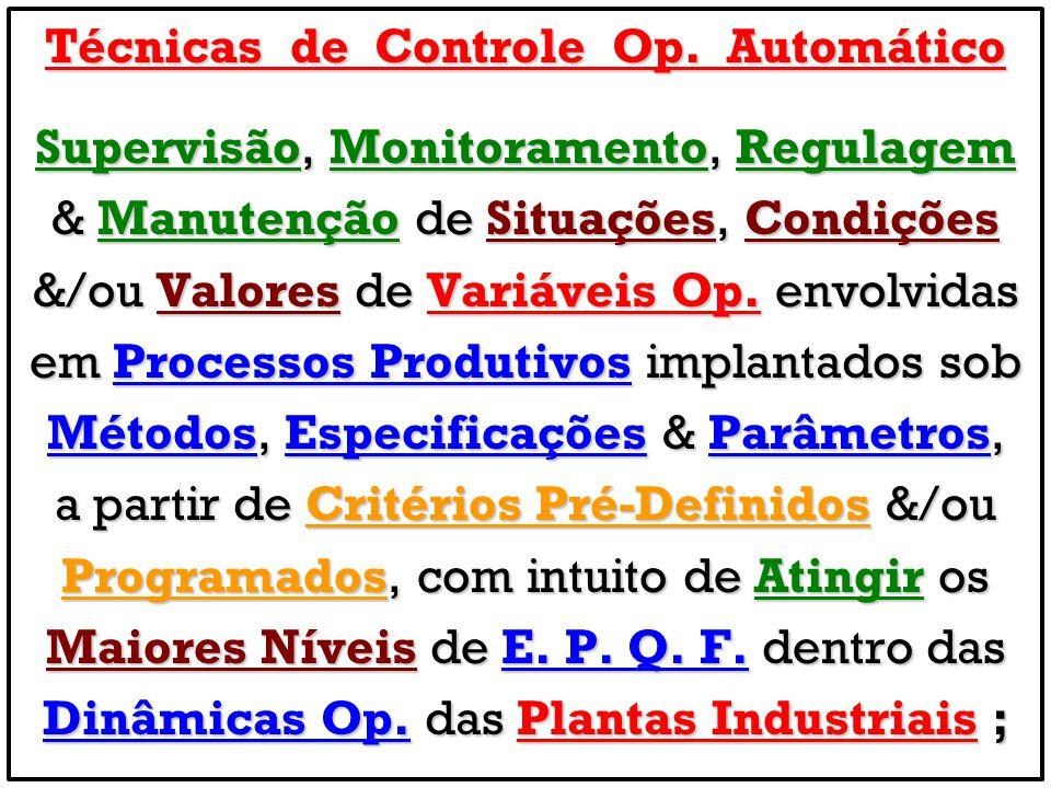 Técnicas de Controle Op. Automático