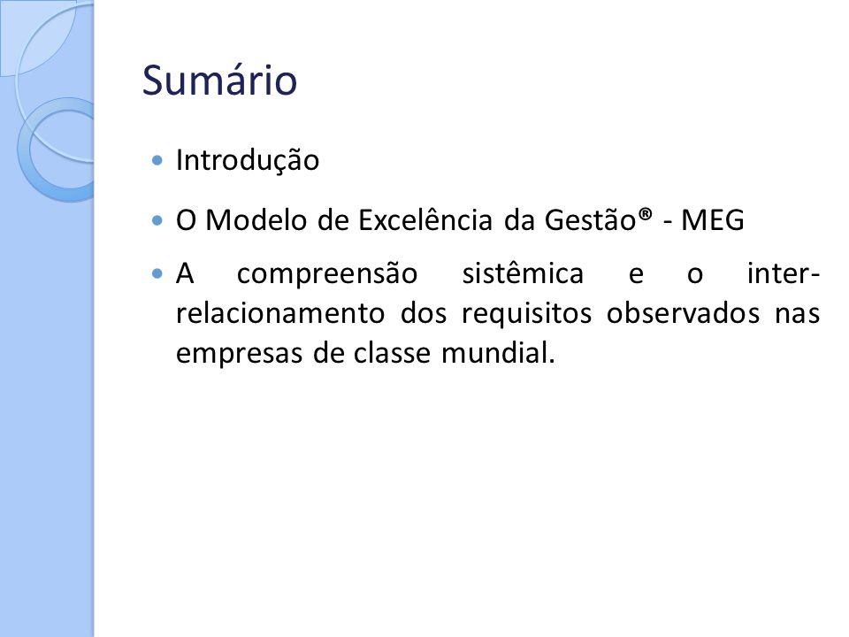 Sumário Introdução O Modelo de Excelência da Gestão® - MEG