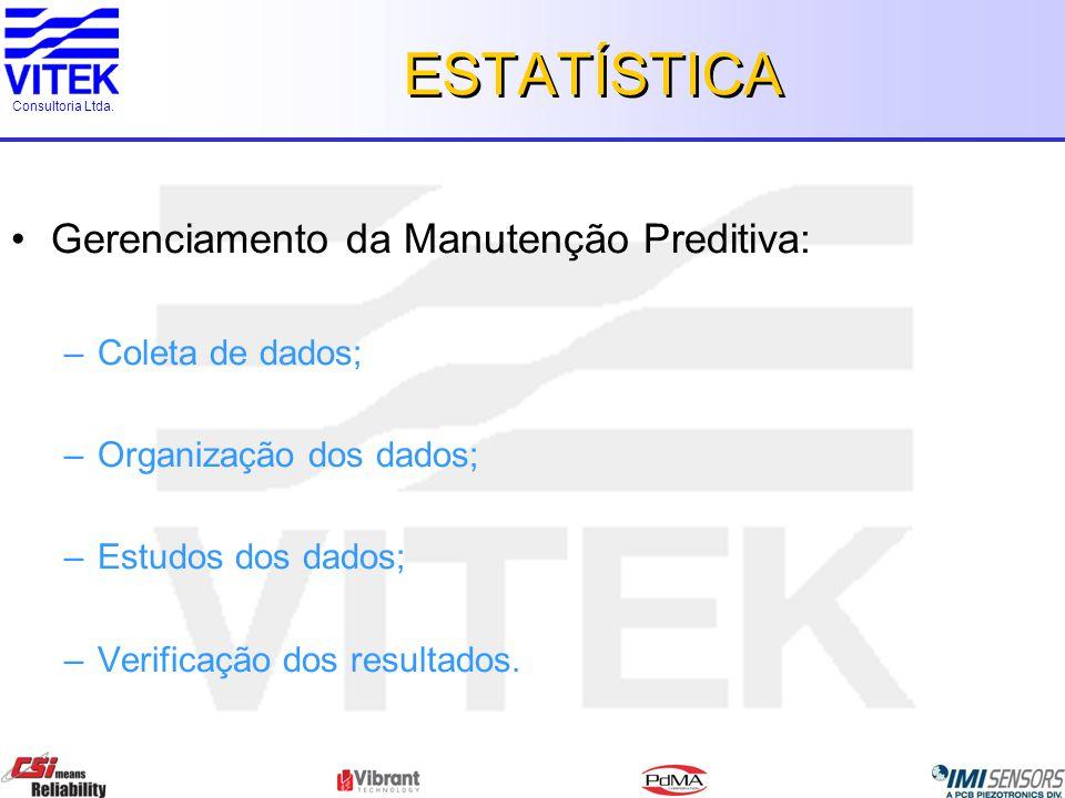 ESTATÍSTICA Gerenciamento da Manutenção Preditiva: Coleta de dados;