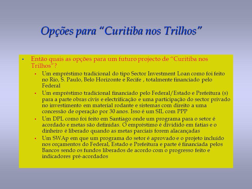Opções para Curitiba nos Trilhos