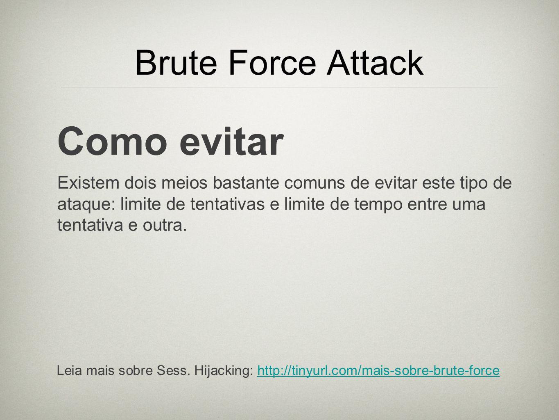 Como evitar Brute Force Attack