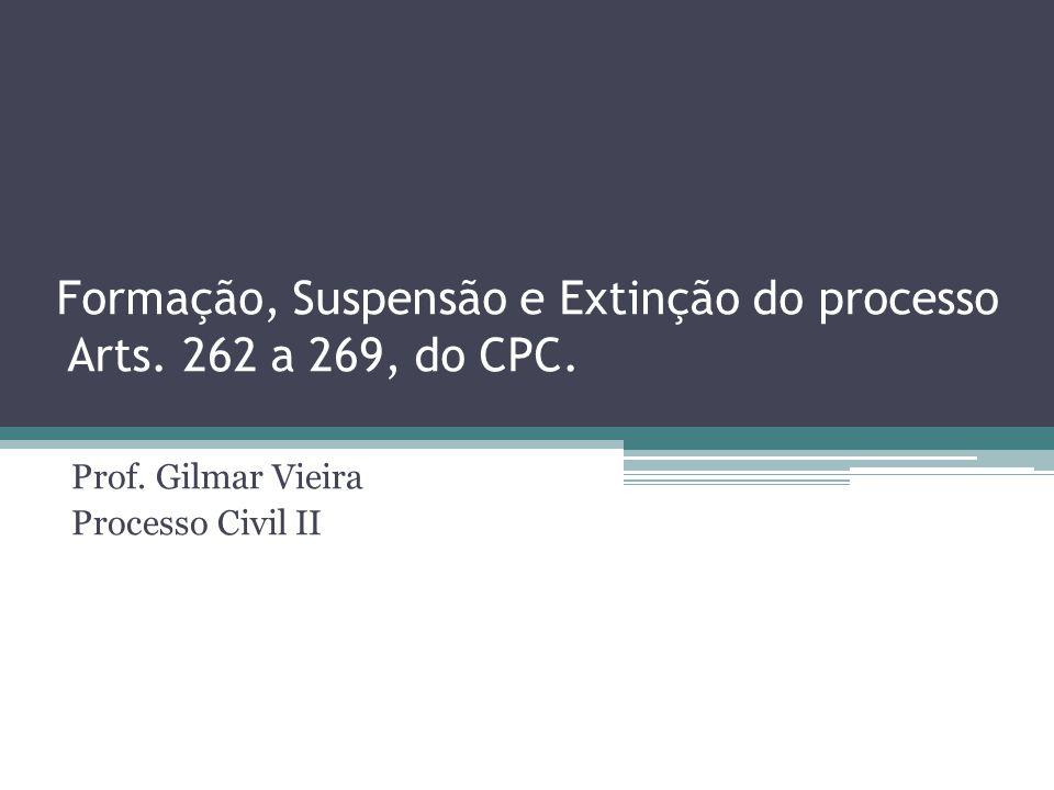 Formação, Suspensão e Extinção do processo Arts. 262 a 269, do CPC.