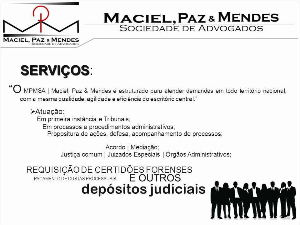 depósitos judiciais SERVIÇOS: