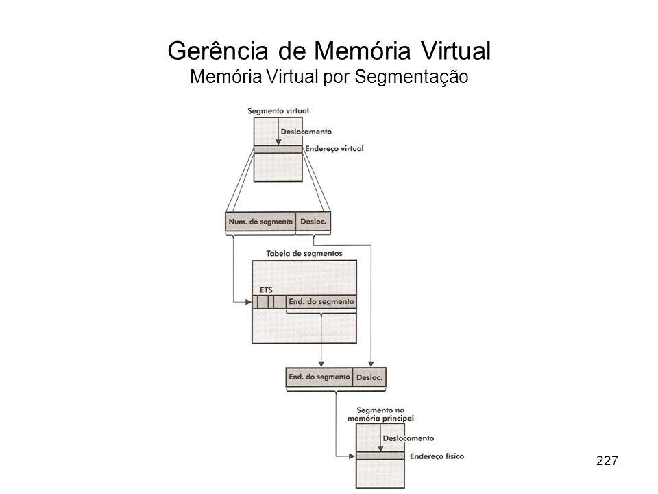 Gerência de Memória Virtual Memória Virtual por Segmentação
