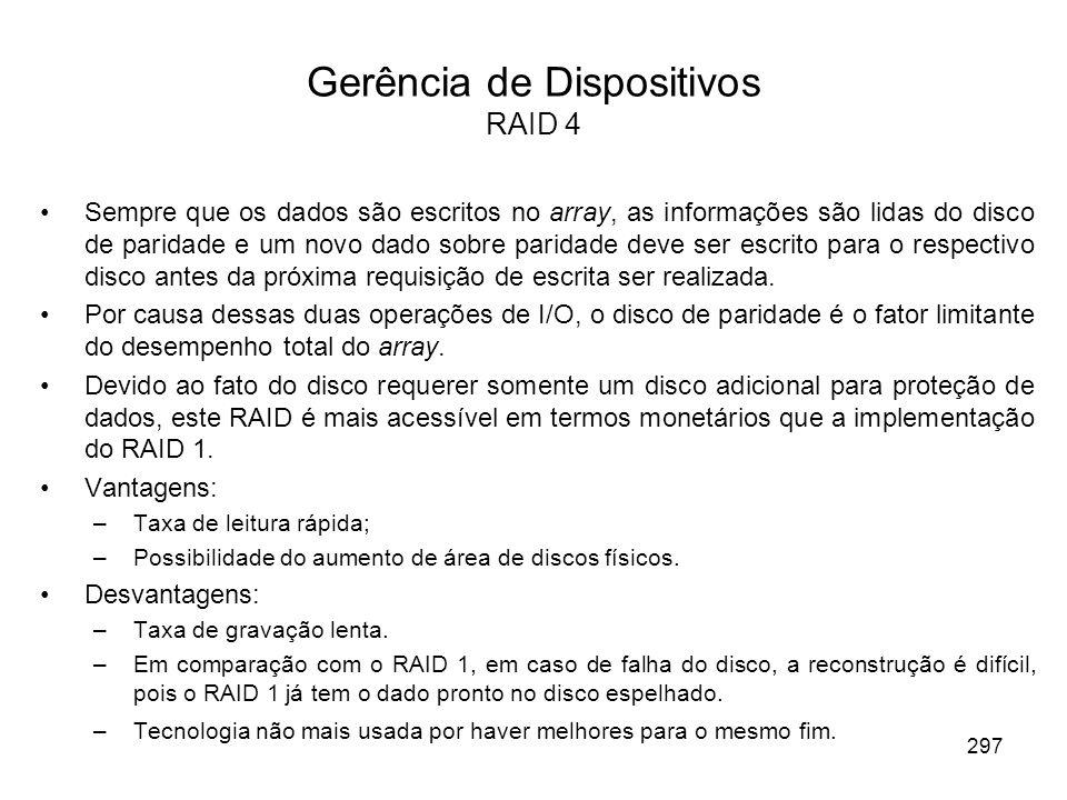 Gerência de Dispositivos RAID 4
