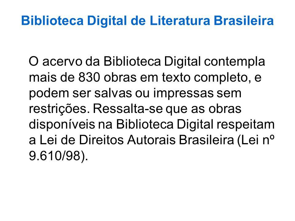 Biblioteca Digital de Literatura Brasileira