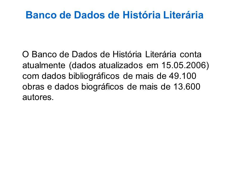 Banco de Dados de História Literária