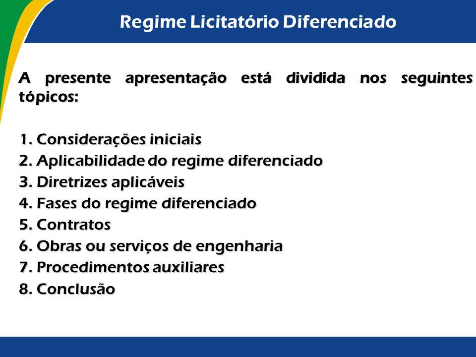 Regime Licitatório Diferenciado