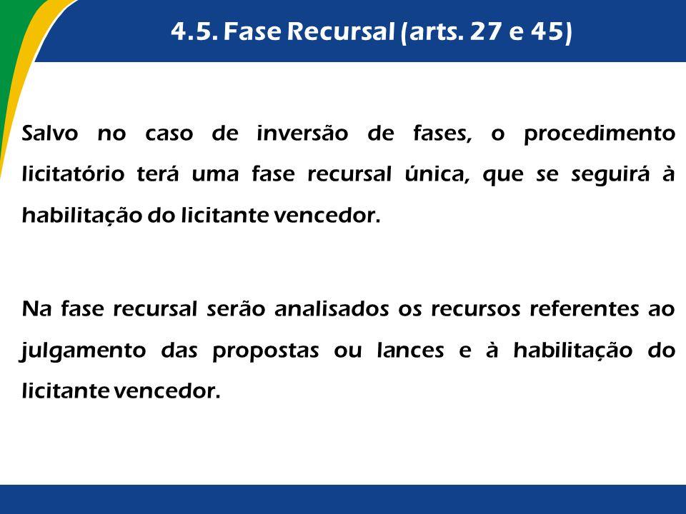 4.5. Fase Recursal (arts. 27 e 45)