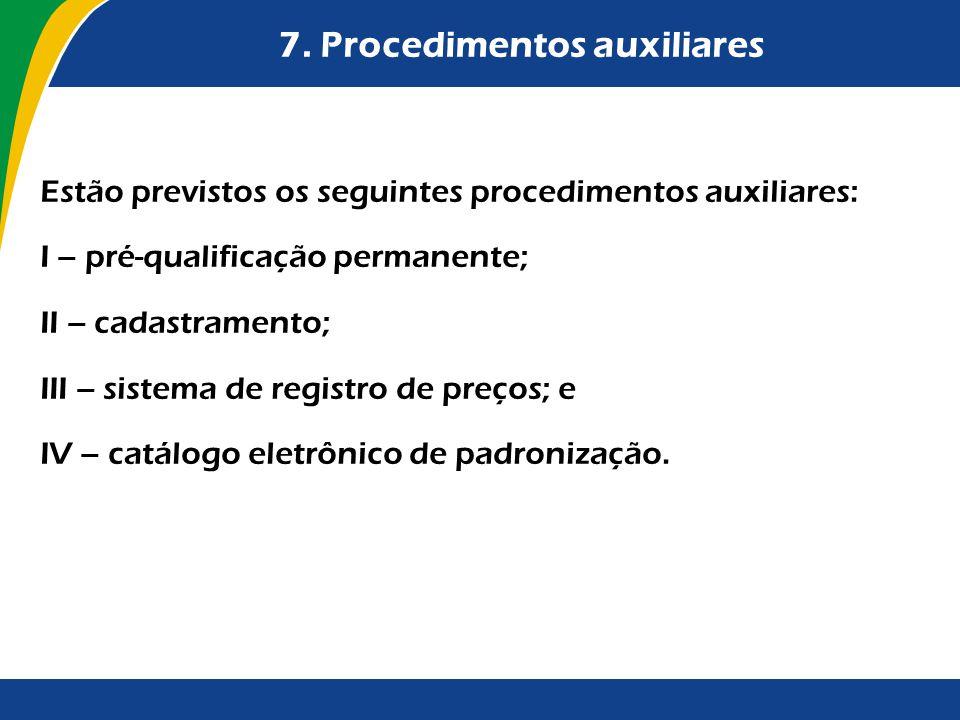 7. Procedimentos auxiliares