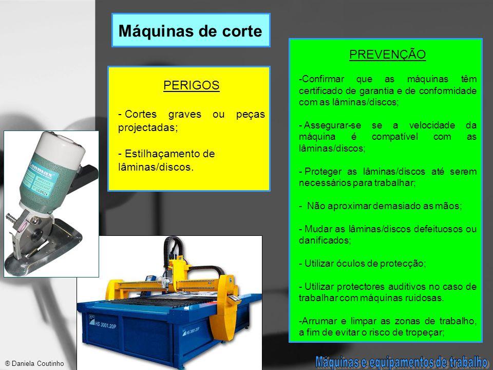 Máquinas e equipamentos de trabalho