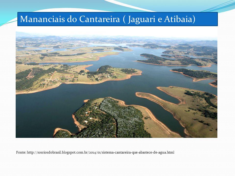 Mananciais do Cantareira ( Jaguari e Atibaia)
