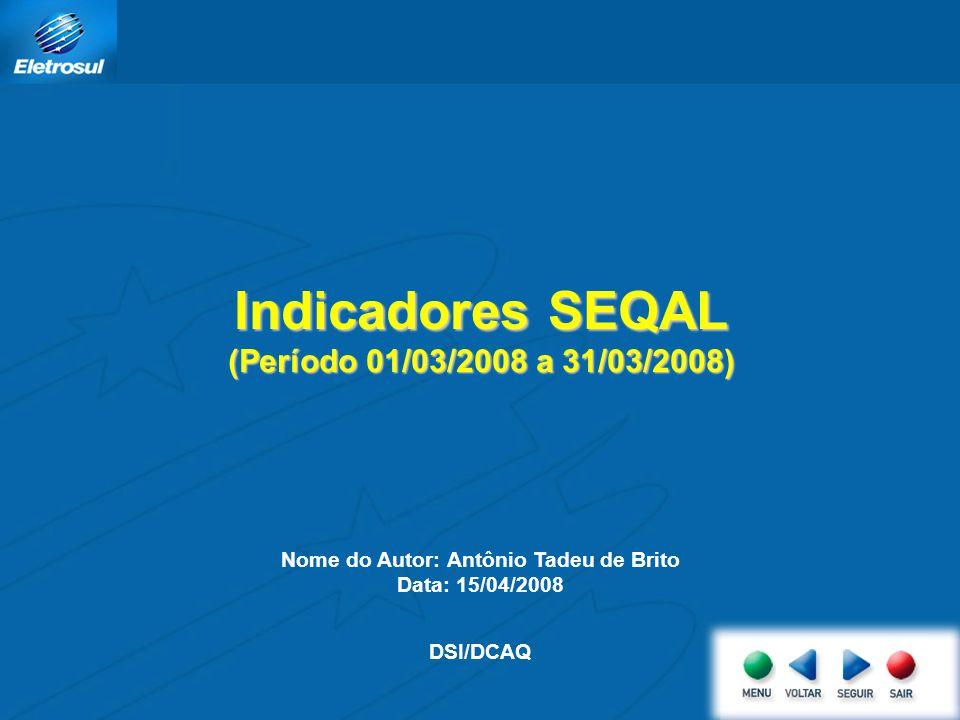 Indicadores SEQAL (Período 01/03/2008 a 31/03/2008)