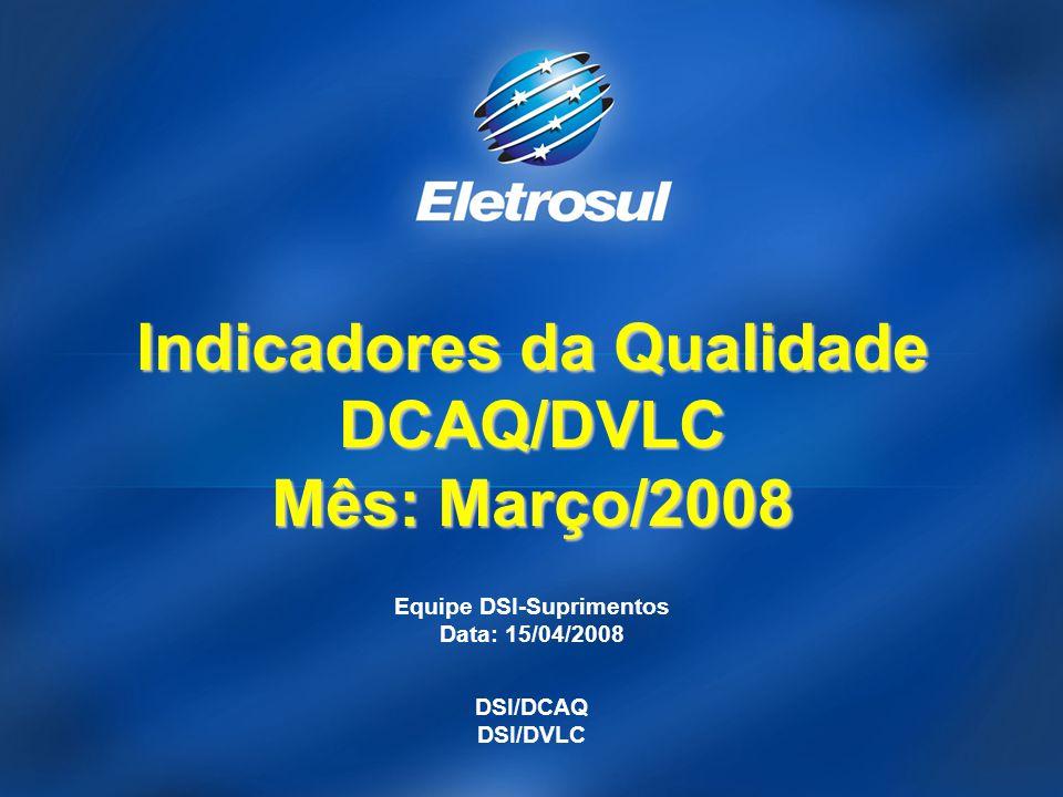 Indicadores da Qualidade DCAQ/DVLC Mês: Março/2008