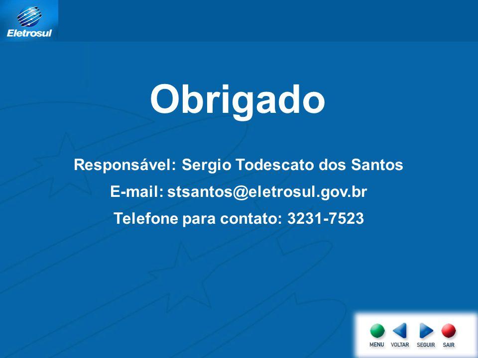 Obrigado Responsável: Sergio Todescato dos Santos
