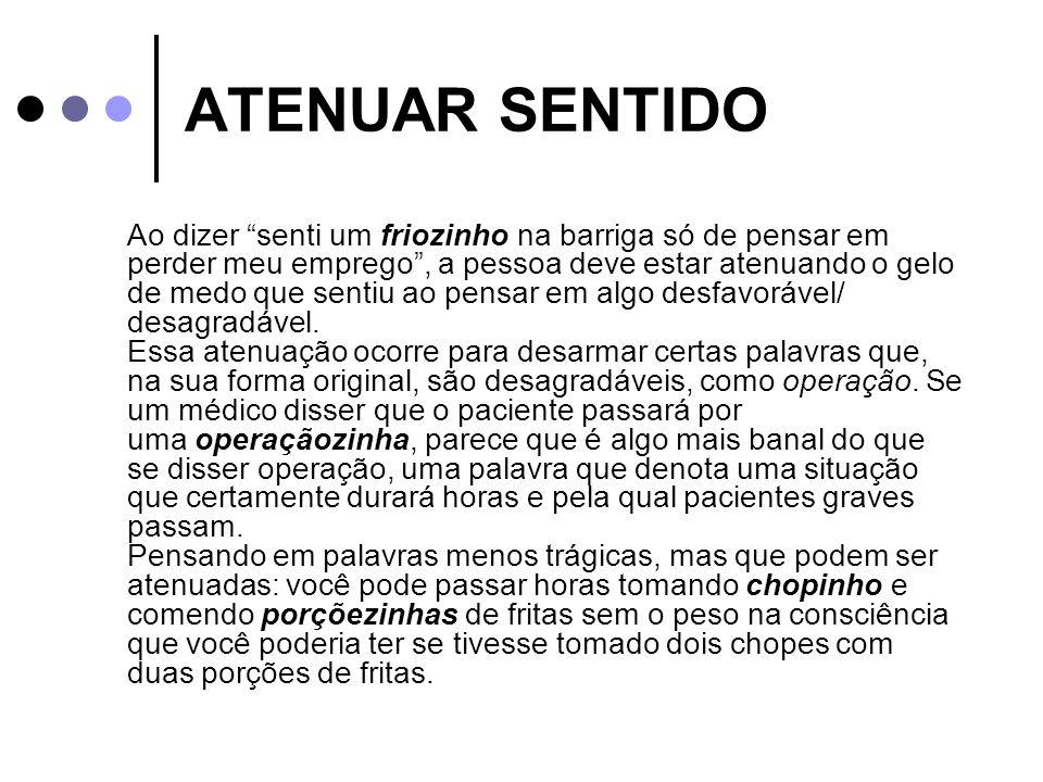 ATENUAR SENTIDO