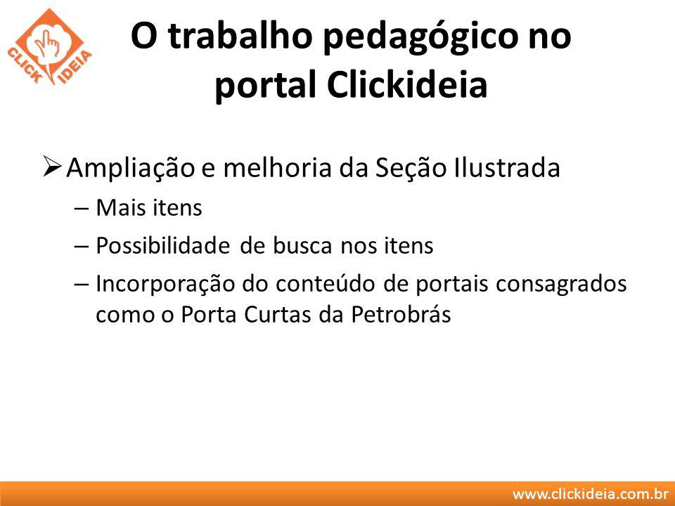 O trabalho pedagógico no portal Clickideia