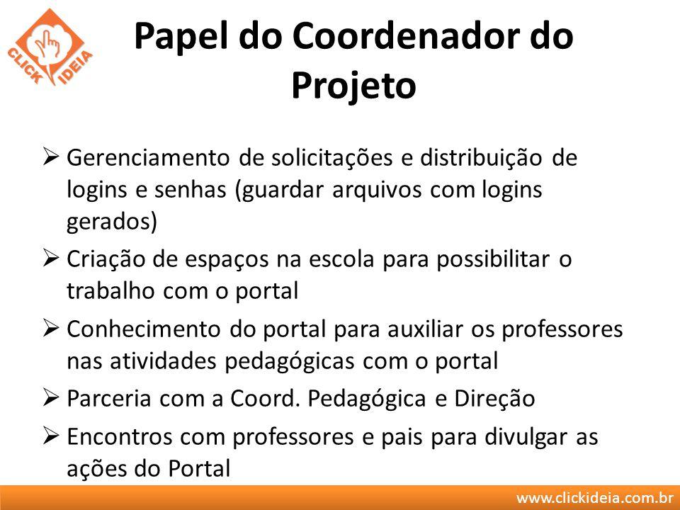 Papel do Coordenador do Projeto